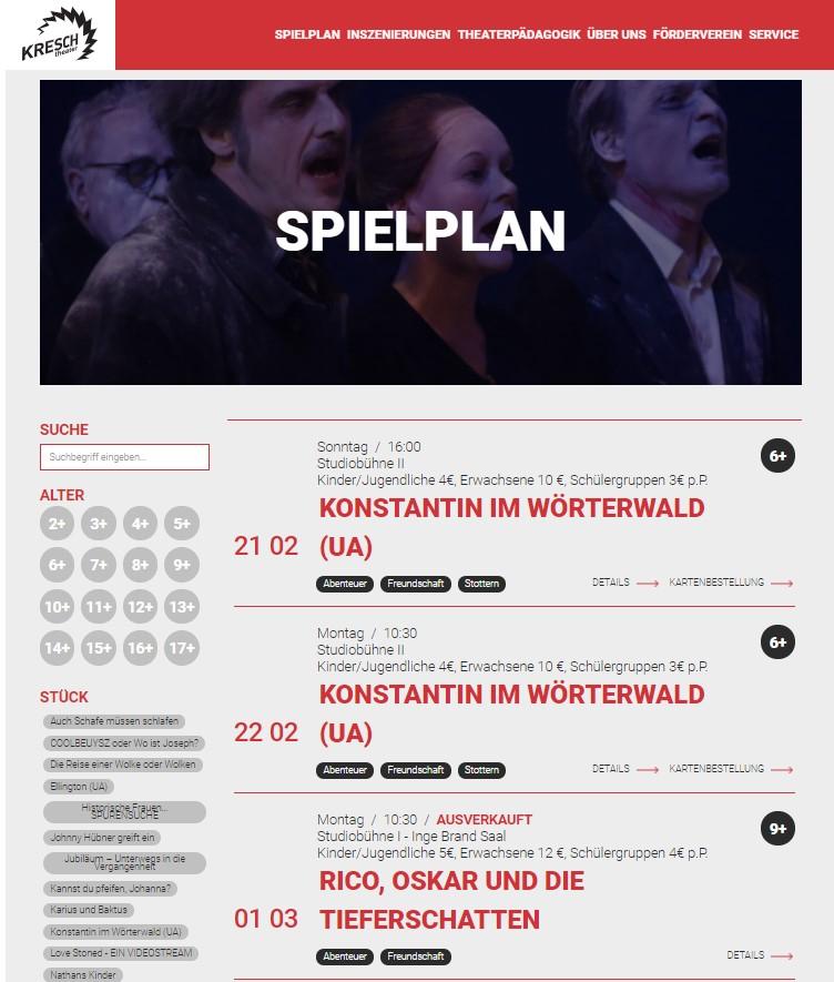 Unsere Referenzen Wedesign Kresch Theater